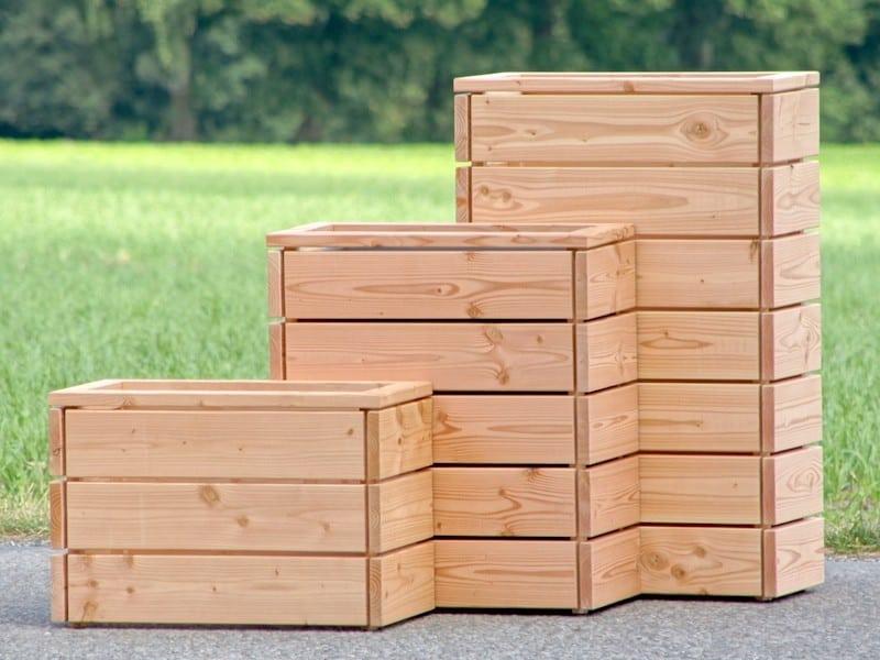 дървени кашпи